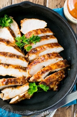 This is my sister's famous juicy BBQ chicken breast recipe. It was the most tender and juicy barbecued chicken breast I've tried.