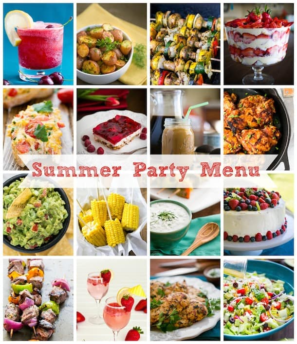 summer party menu ideas