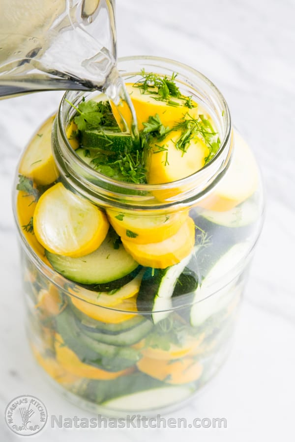 Quick Pickled Zucchini Recipe, Marinated Zucchini, Zucchini Pickles