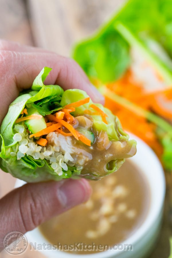 Have you tried lettuce wraps? You'll love these! P.S. this peanut sauce is boss. You'll want to hang on to this recipe! @natashaskitchen