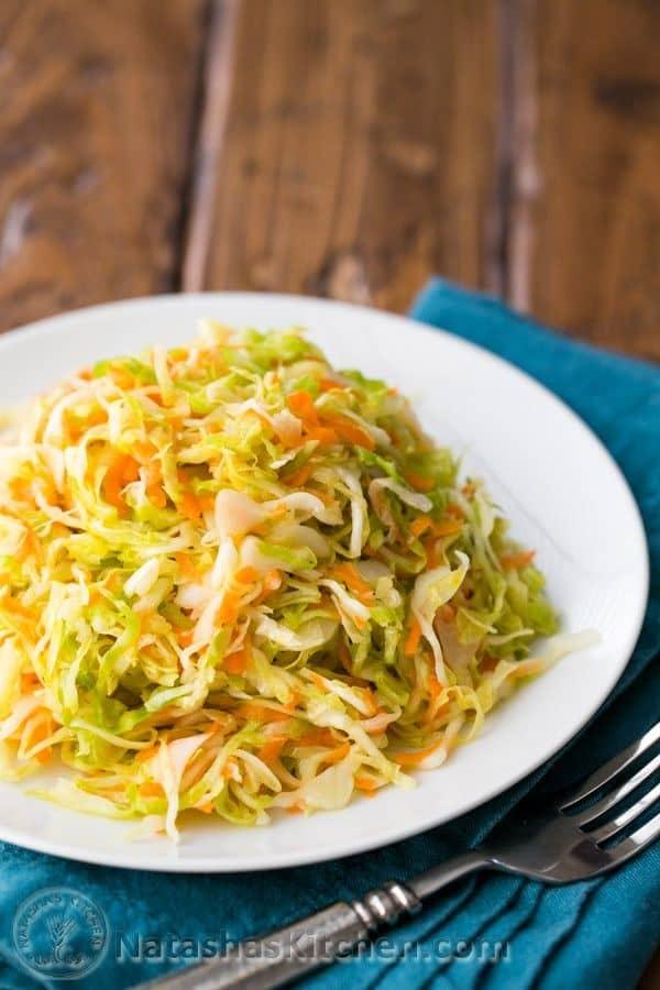 Easy overnight sauerkraut recipe from @natashaskitchen