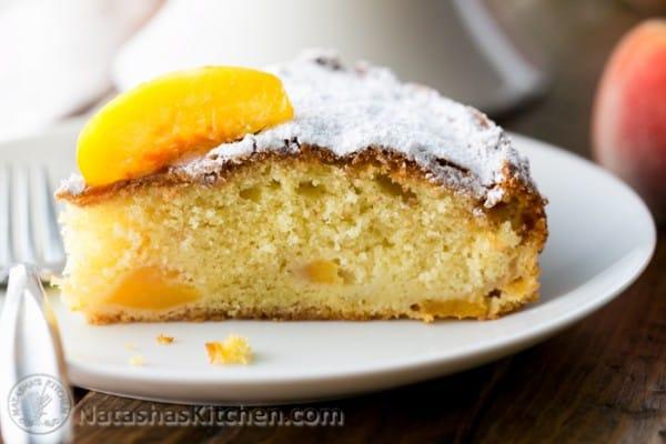 down cake with rustic peach cake easy summer peach cake moist cake of ...