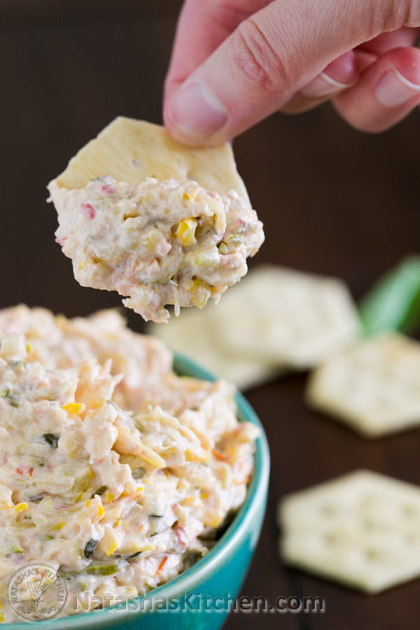 Serve this zucchini dip warm over crackers, or fresh French bread. So good! @natashaskitchen