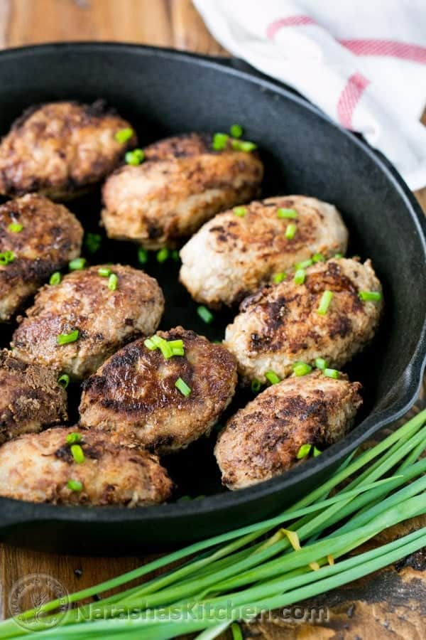 Lean Turkey Kotlety with Mushroom Filling from @natashaskitchen