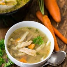 There's nothing like homemade chicken noodle soup. So homey and family approved! @natashaskitchen