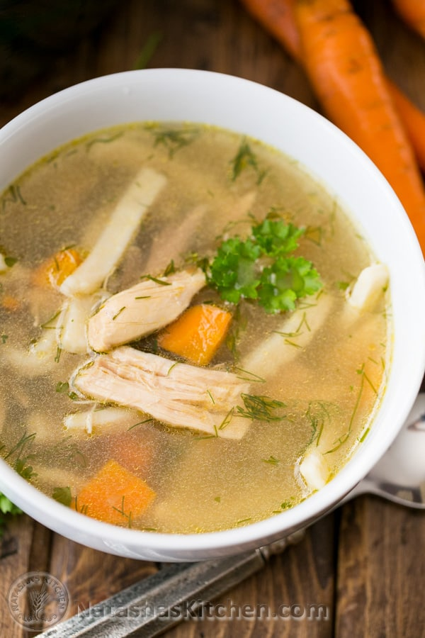 Russian chicken noodle soup recipe