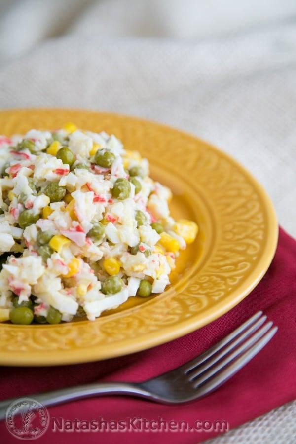 how to make seafood salad with imitation crab