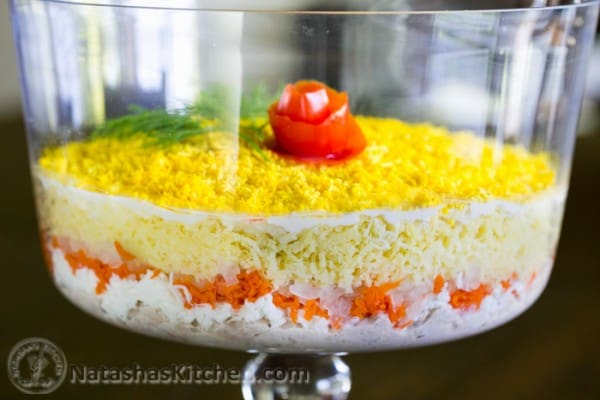 Momosa Salad Recipe (Layered Tuna Salad) from @natashaskitchen