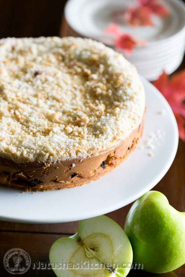 Country Apple Crumb Cake. So quick and easy to put together @natashaskitchen