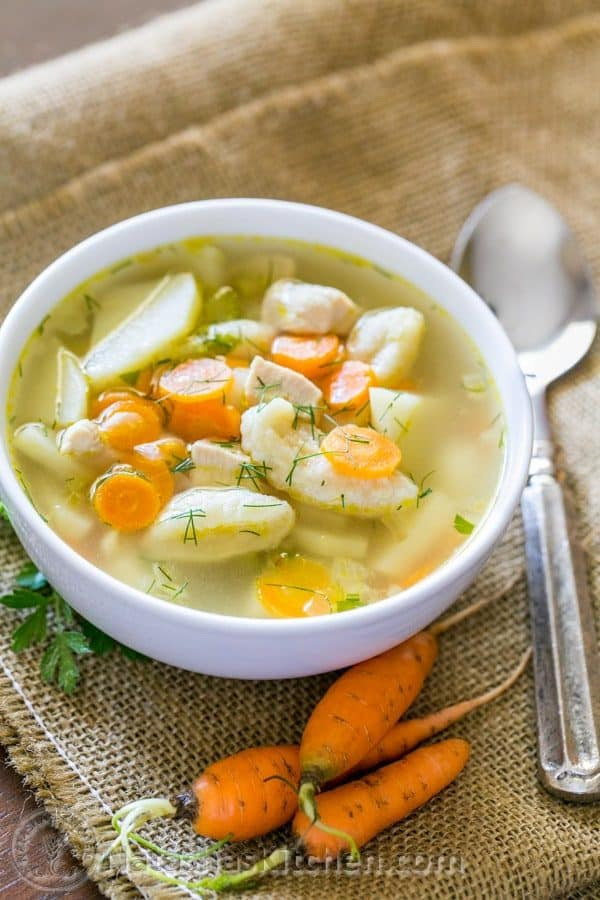 Easy and delicious chicken and dumpling soup. Classic comfort food. @natashaskitchen