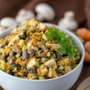 Chicken and Mushroom Wedding Salad - A unique and delicious salad! @natashaskitchen