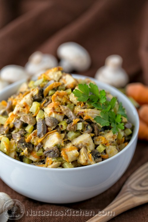 Chicken And Mushroom Wedding Salad Natashaskitchen Com