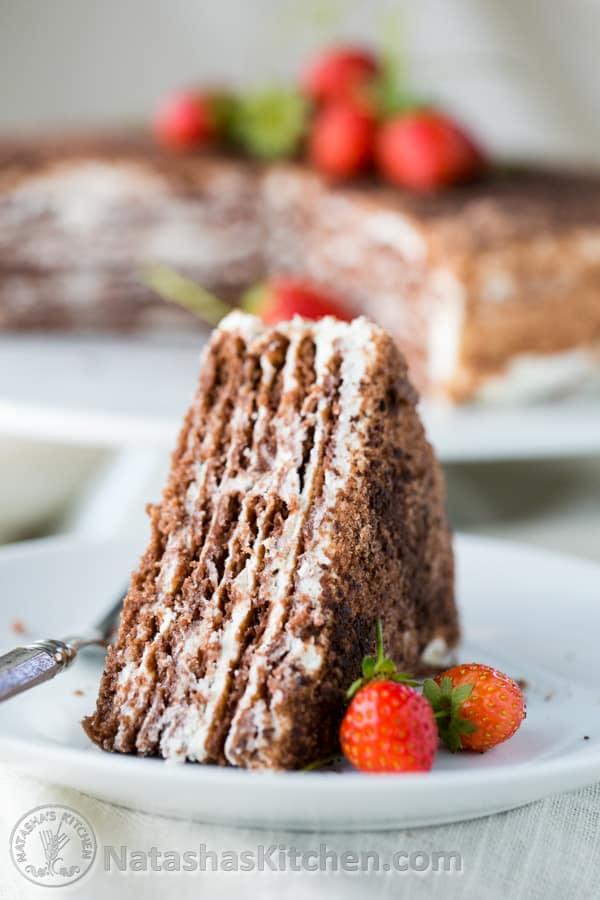 Natashaskitchen Chocolate Spartak Cake