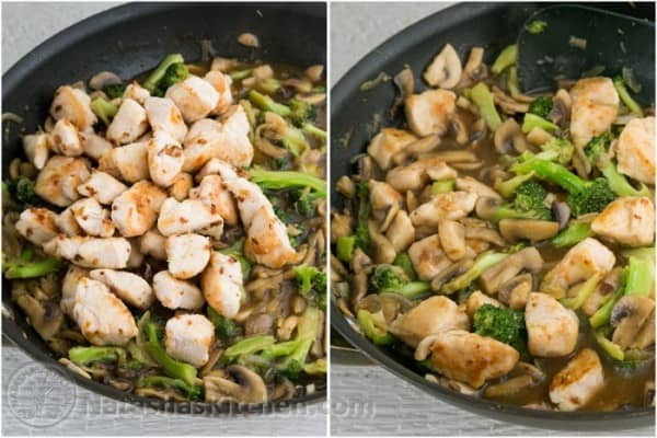 Easy Chicken Broccoli and Mushroom Stir Fry-8