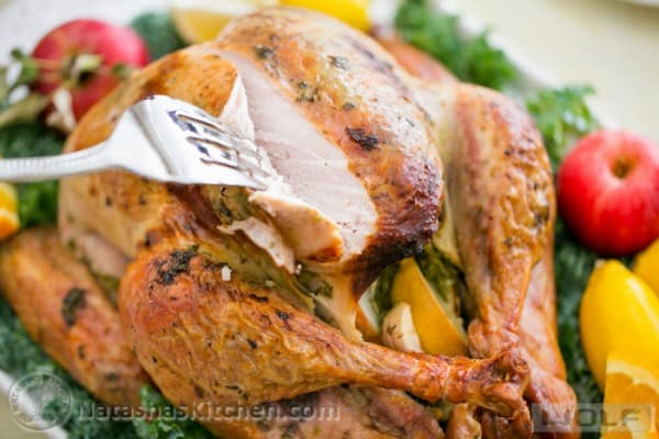 Juicy Roast Turkey. This turkey has the juiciest, most flavorful turkey breast! KEEPER!! @natashaskitchen