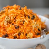 This carrot apple and walnut salad is so simple and delicious. My hubby and I couldn't stop eating it!! @natashaskitchen