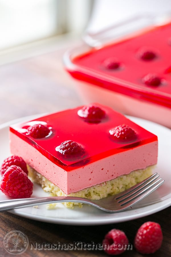 Raspberry Mousse Sponge Cake Recipe