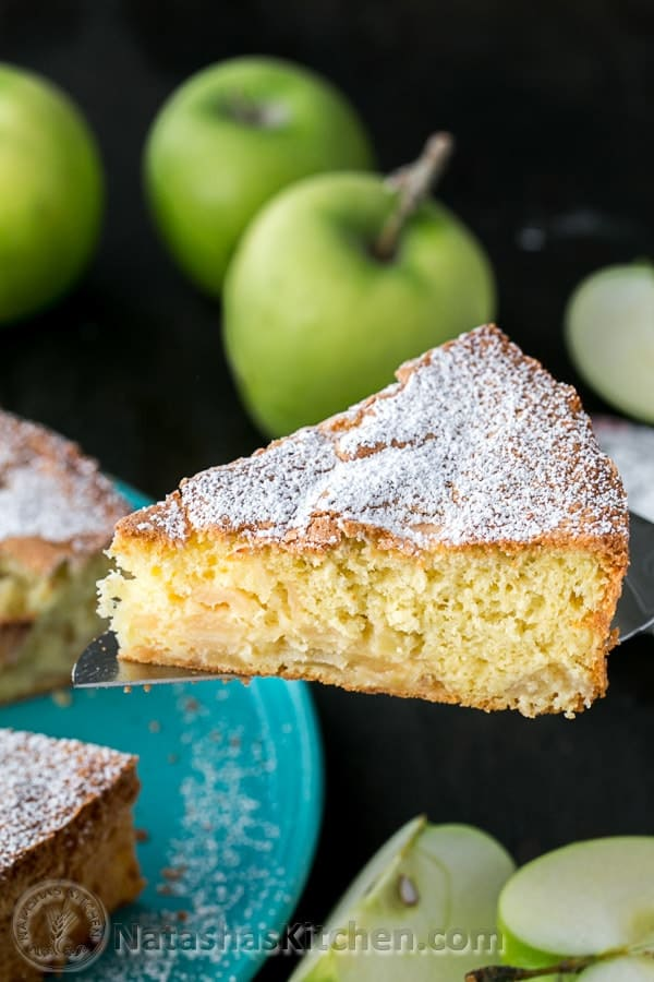 The BEST apple sharlotka cake we've tried. Just 5 ingredients and 15 min of prep then your oven does the rest! @natashaskitchen