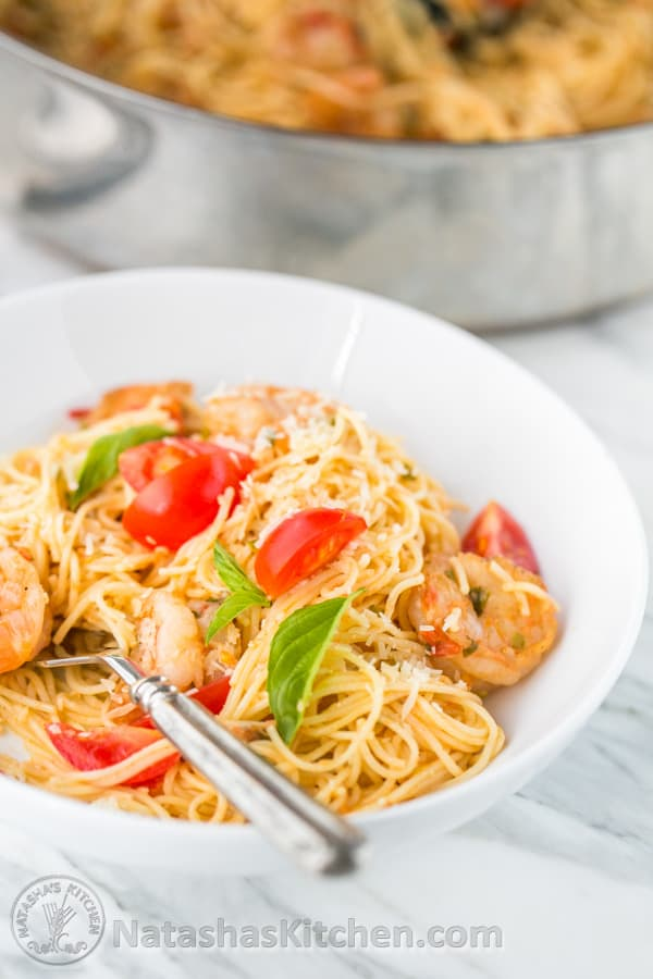 Shrimp and red sauce pasta recipes