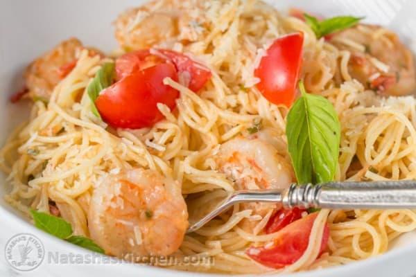 Shrimp and pasta recipes red sauce