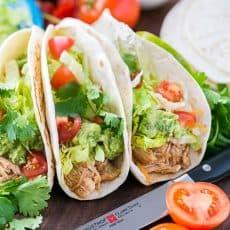 Juicy and Easy Slow Cooker Chicken Tacos Recipe @natashaskitchen