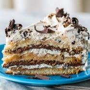 Almond Nutella Cake Recipe (Dacquoise) - Layers of scrumptious goodness! And it's gluten free! @natashaskitchen