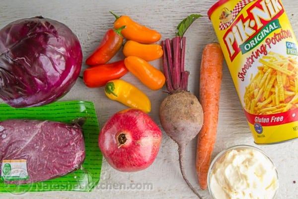 Beet and Pomegranate Kaleidoscope Salad - beautiful and scrumptious! @natashaskitchen