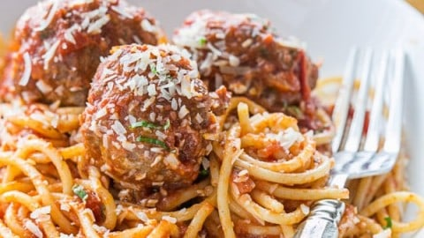 Spaghetti and Meatballs Recipe, Italian Spaghetti and Meatballs
