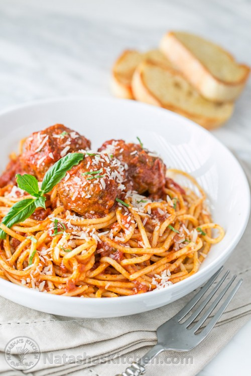 Spaghetti and Meatballs Recipe, Italian Spaghetti and ...