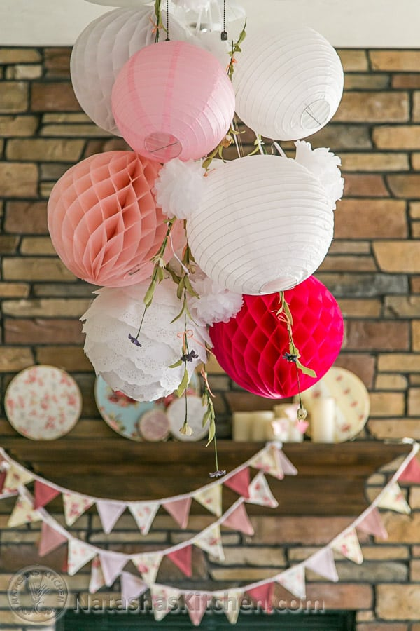 Darling Shabby Chic Girl Baby Shower, Party Menu & Baby Registry Ideas from @natashaskitchen