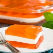 Peaches and Cream Layered Jello Recipe (with great video tutorial!) @natashaskitchen