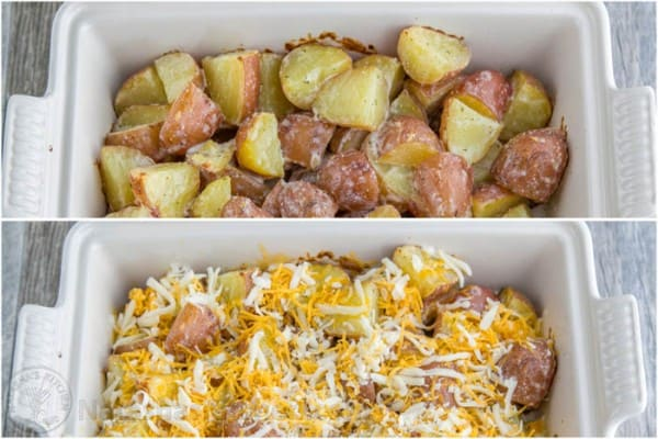 Baked Cheesy Ranch Potatoes (Just 4 Ingredients!) @natashaskitchen
