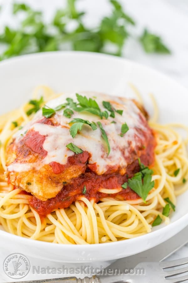 Classic Chicken Parmesan Recipe Natashaskitchen Com