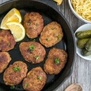 These chicken and beef croquettes are soft, juicy and super flavorful. A famous Russian kotleti recipe! @natashaskitchen