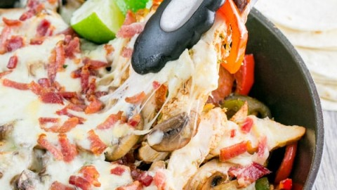 Chicken and Mushroom Fajitas