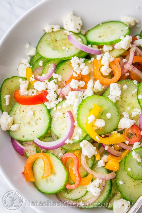 Cucumber Feta Salad Recipe, Greek Salad Recipe