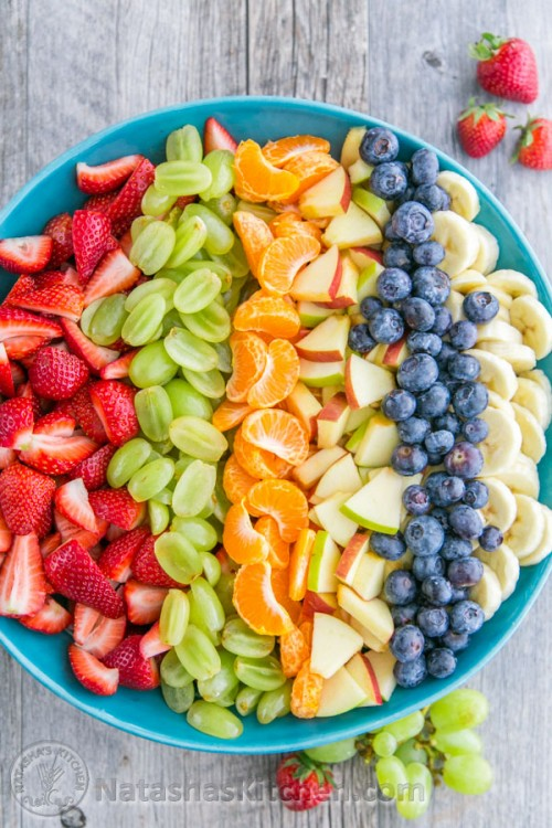 This Fruit Salad with Orange Poppy Seed Syrup is so easy & perfect for parties! @natashaskitchena