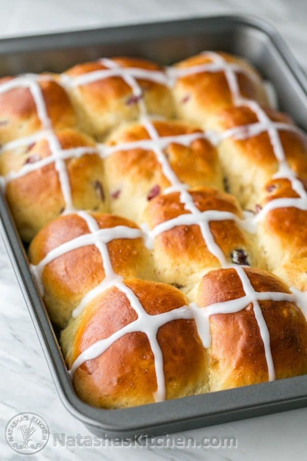 Hot Cross Buns Recipe. I loved how super fluffy these are! Great Easter tradition! @natashaskitchen