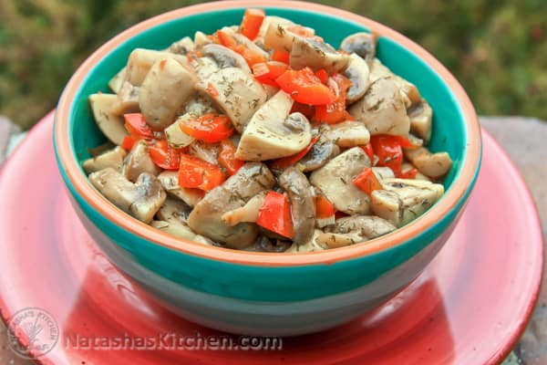 Marinated Mushrooms Recipe-5