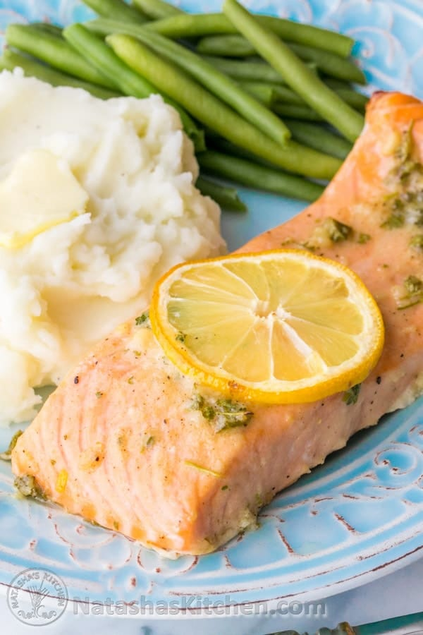 baked salmon recipe with garlic and dijon. Black Bedroom Furniture Sets. Home Design Ideas
