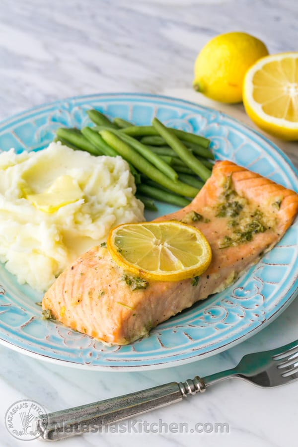 Our Favorite Baked Salmon Recipe - juicy, flaky and super delicious. A ...