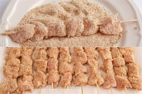 Breaded Chicken Skewers-7