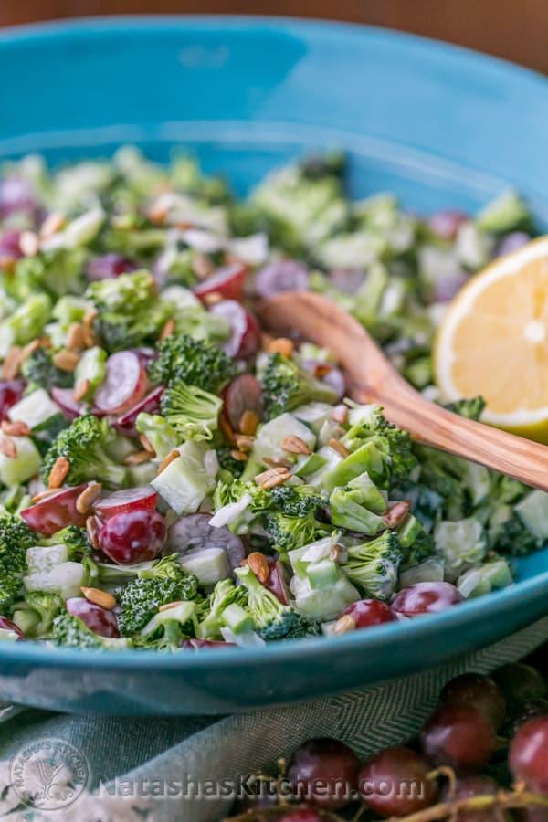 Broccoli Grape And Cucumber Salad Natasha 39 S Kitchen