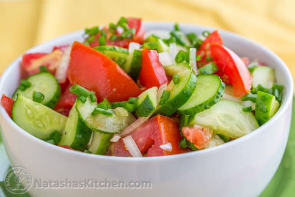 Cucumber And Tomato Salad Recipe Natashaskitchen Com