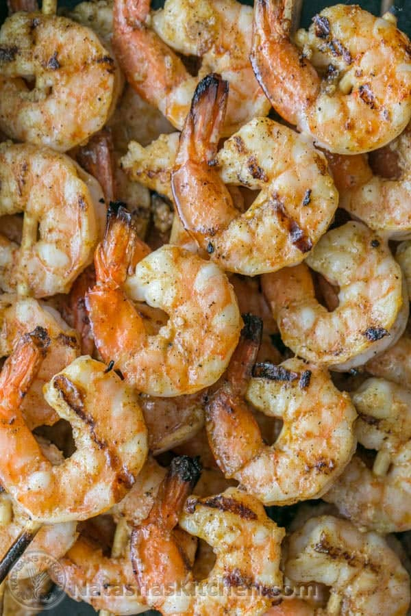 Grilled Garlic Cajun Shrimp Skewers Natashaskitchen Com