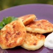 Leftover mashed potatoes? Try these cheesy mashed potato pancakes; so easy, delicious and only four ingredients! Serve with dollop of sour cream.