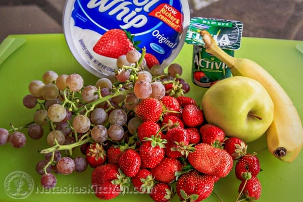"""This fruit salad is a real """"crowd pleaser"""" and tends to go fast. You can mix fresh or frozen fruit together which makes it """"perfect"""" for any season."""