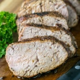 A tried and true, quick and easy method for roasted pork tenderloin. So juicy, tender & delicious! | NatashasKitchen.com