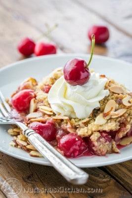 Cherry Crumble Recipe, Cherry Crisp, Cherry Almond Crumble