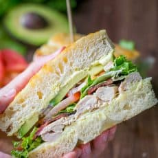 "Chicken Bacon Avocado Sandwich with ""secret sauce"" - A Kneaders Bakery Copycat Recipe | NatashasKitchen.com"